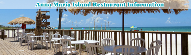 Anna Maria Island Area Restaurant Information